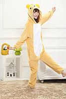 Пижама Кигуруми Мишка Тедди детский микрофибра (велсофт) / детские кигуруми Мишка Тедди Размер 130 140, фото 1