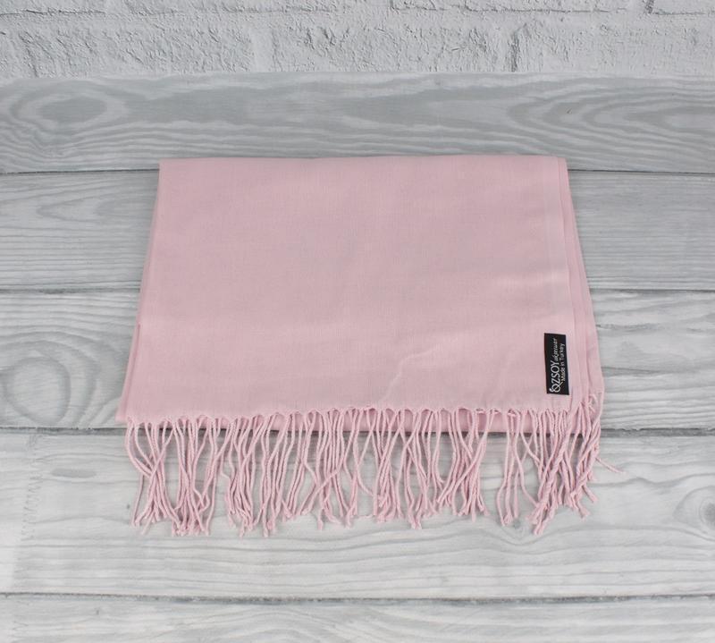 Кашемировый шарф, палантин пудровый Ozsoy 7180-25