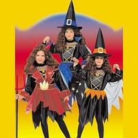 Карнавальный костюм Ведьмочка, Чертенок, Колдунья 3 в 1, (р.115,126,150см)