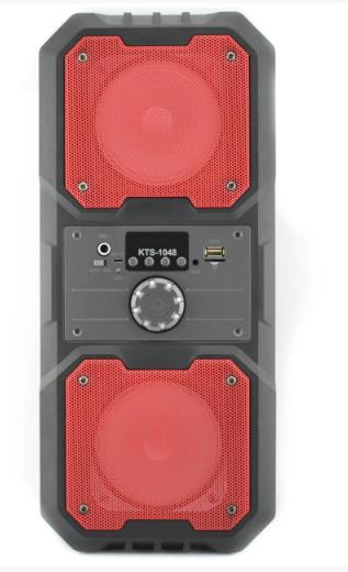 Портативна Bluetooth колонка HLV KTS-1048 Red