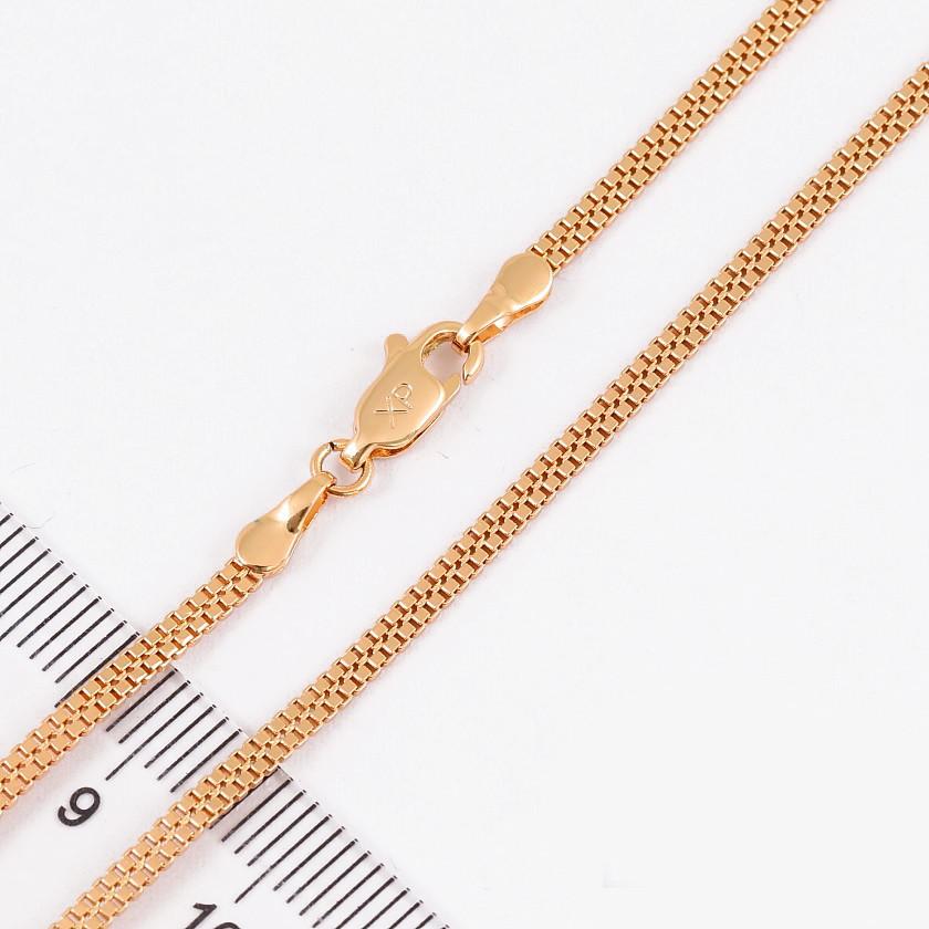 Ланцюжок xuping 2мм 50см медичне золото позолота 18к подвійне венеціанське плетення ц704