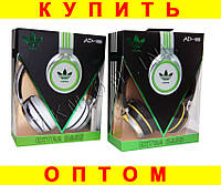 Стильные наушники Adidas AD-188 + ПОДАРОК:Нескользящий коврик для телефона. Размер 11*9 см
