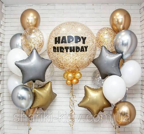Фонтан гелиевых шаров на День Рождения, фото 2