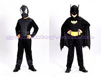 """Карнавальный костюм """"Спайдермен-Бетмен"""", S/M/L (110-140см), 2в1 трансформ, комбинезон/маска/ремень"""