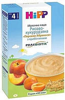 Каша молочная Рисово-кукурузная. Персики-Абрикосы с пребиотиками хипп hipp,250 г, с 4 месяцев