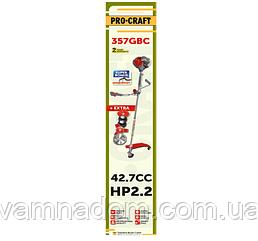 Бензокоса ProCraft 357GBC Professional Europe (2 ножа+3 катушки)