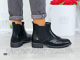 Женские ботинки осенние с декором