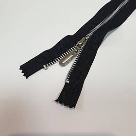 Молния карманная, черная, никель, длина 16 см