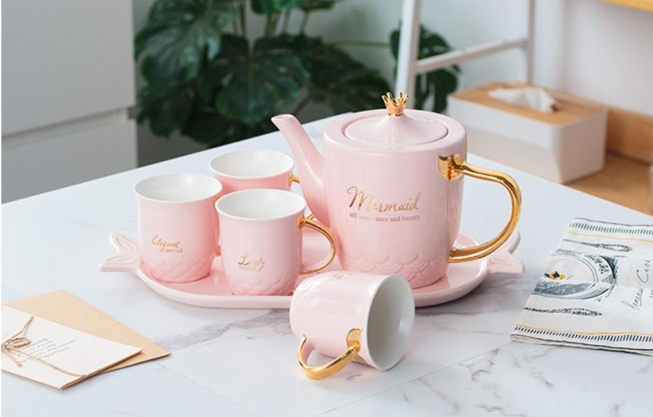 "Чайный набор ""Mermaid"", розовый"