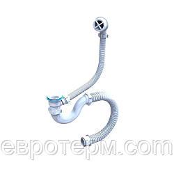 Сифон для ванны пластиковый выпуск и перелив Эконом