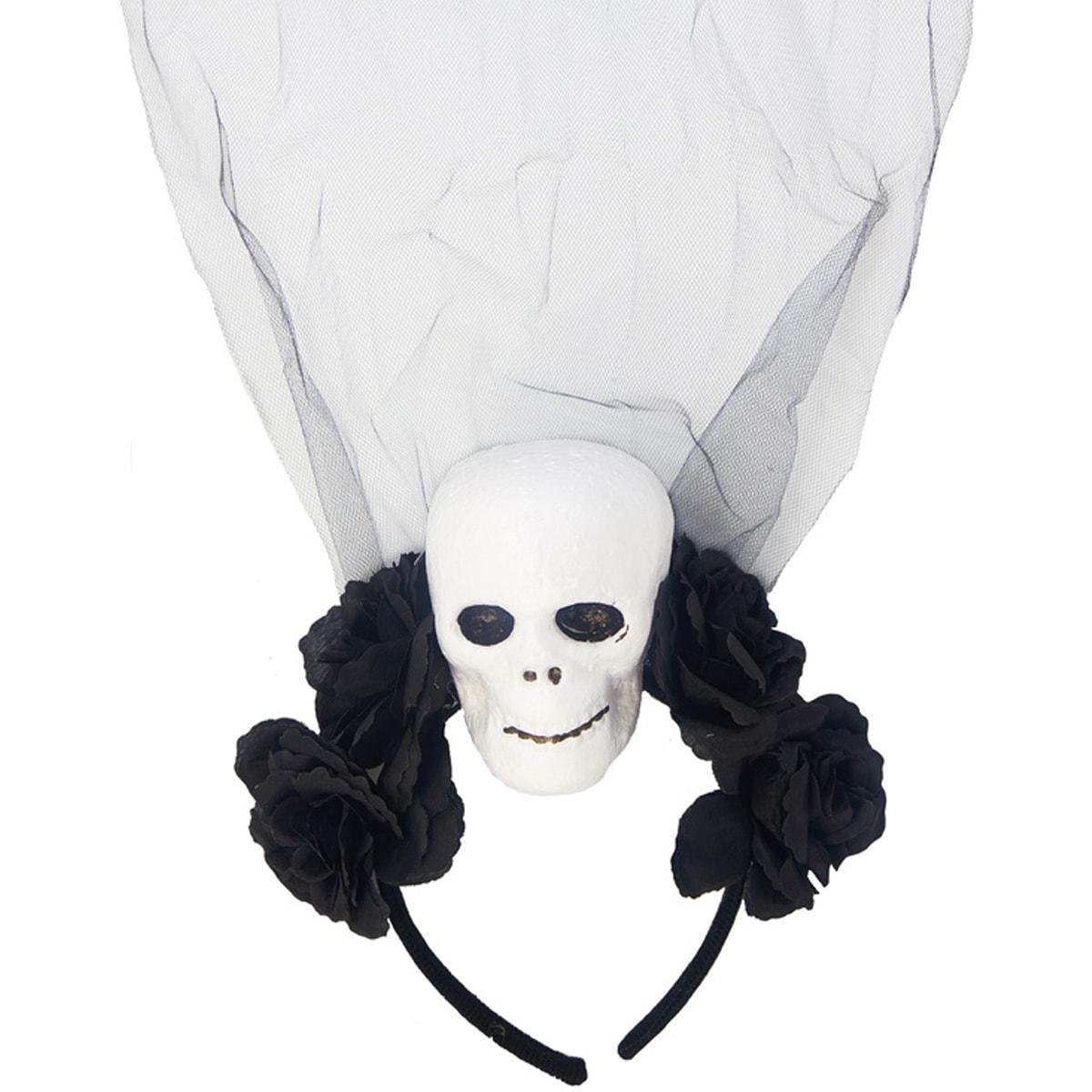 1501-5170 ободок hwn череп с черной фатой