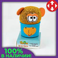 Распродажа! Травянчик декоративный в синем горшочке, растущая игрушка трава, с доставкой по Киеву и Украине, фото 1