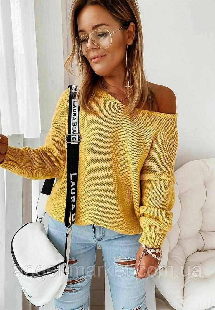 Вязаный  осенний свитер  новинка 2020