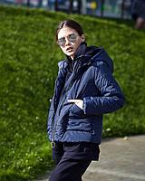 Спортивная женская и повседневная темно-синяя куртка на утеплителе 42-44, 46-48, 50-52
