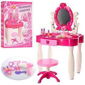 Трюмо (туалетный столик) для девочки,стульчик, фен, муз, свет, аксес, на бат-ке,в кор-ке