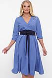 Платье расклешенное Луиза василек, фото 4