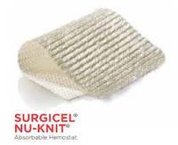 Серджисел Нью Нит(SURGICEL* NU-KNIT)  –  гемостатик на основе регенерированной окисл. целлюлозы 2,5Х2,5см