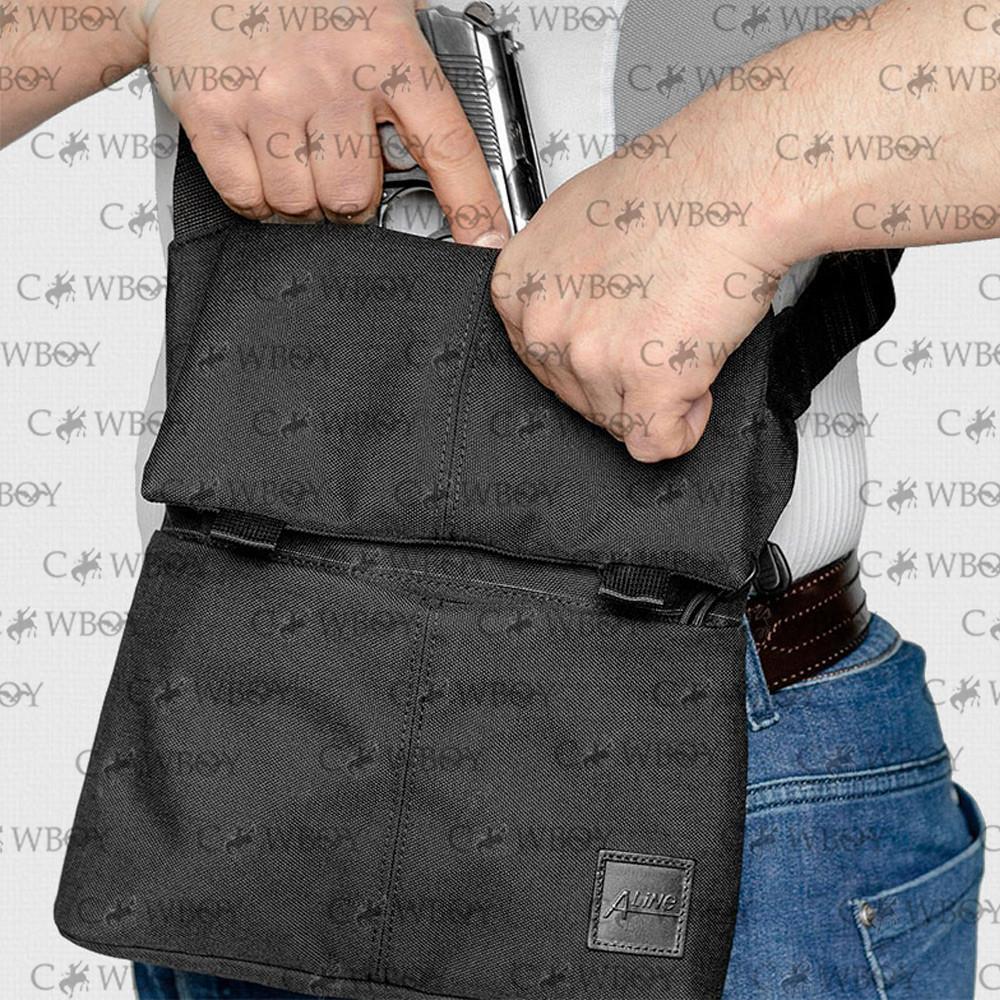 A-line Плечевая сумка с кобурой А39, черная синтетическая