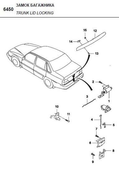 Засувка замка багажника NEXIA GM Корея (ориг)