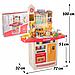 Детская большая интерактивная кухня с водой Fun Cooking 998B розовая 100 см, фото 2