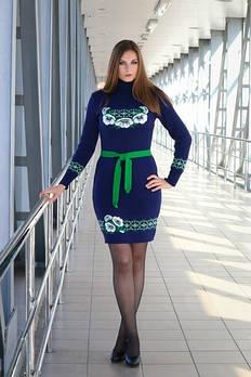 Женское платье машинная вязка - Веночек