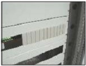 Заглушка 12 шт. для щита под автомат на DIN рейка для щита (ящика, щитка) металлического, фото 1