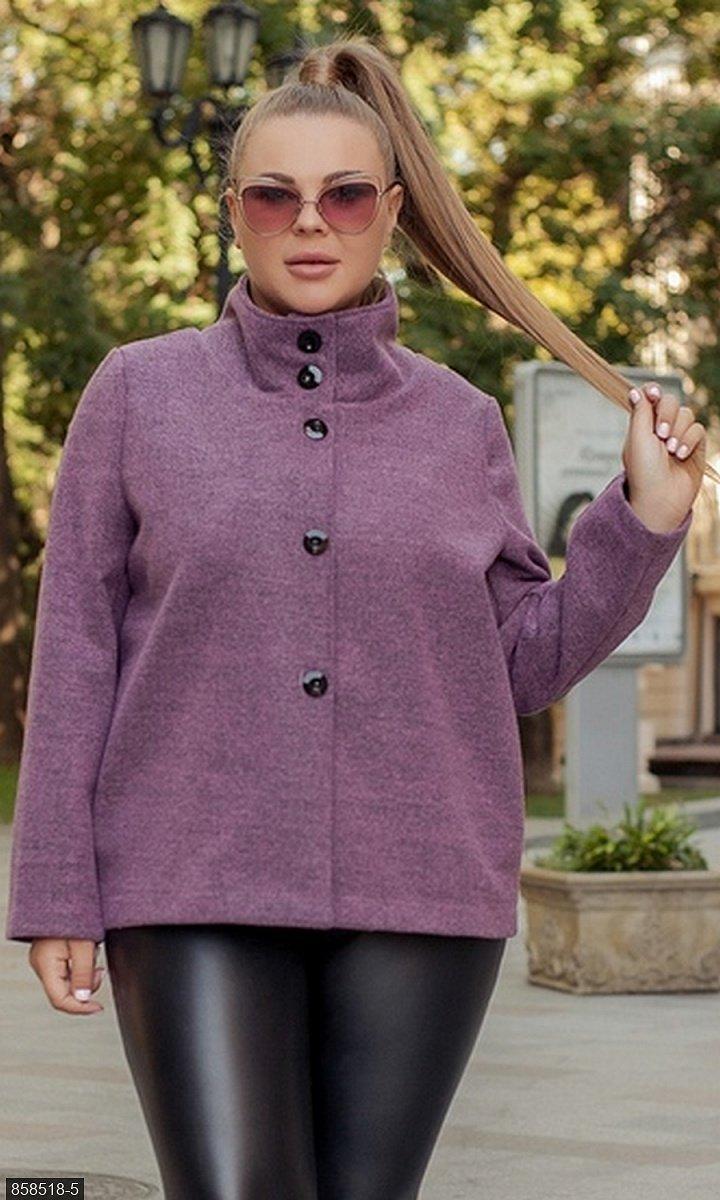 Пальто кашемир  фиолетовый Осень Украина 50-52 большого размера 858518-5