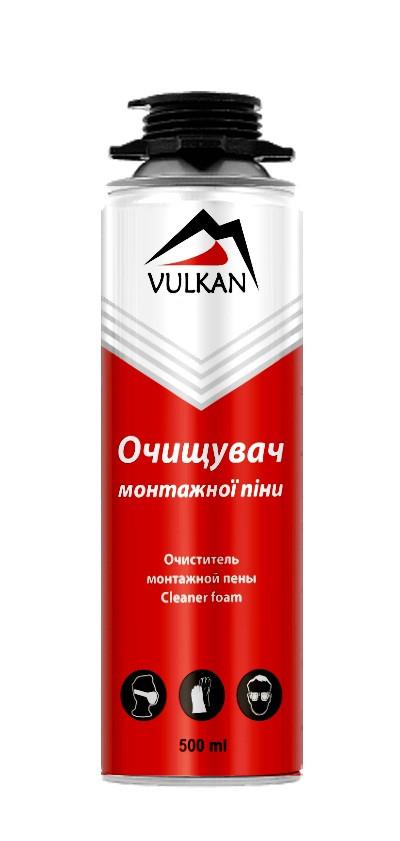 Очиститель монтажной пены Vulkan 500 мл