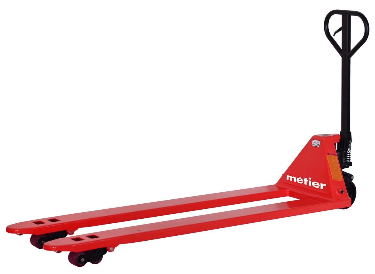 Рокла гидравлическая Metier 2000 кг желтая, длина вил 1.8 м