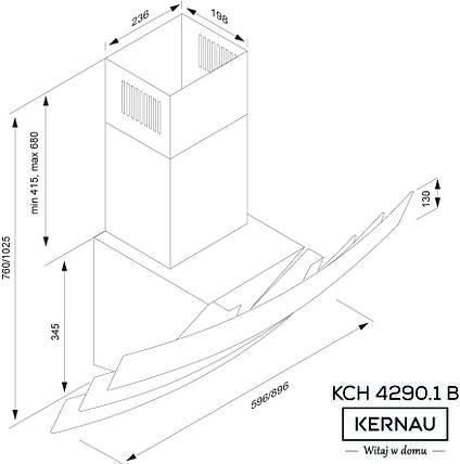 Вытяжка KERNAU KCH 4290.1 B, фото 2