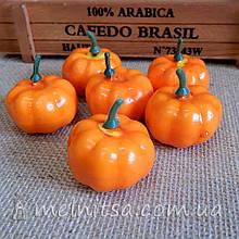 Тыква оранжевая, 4х2 см