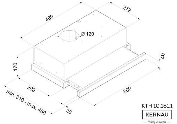 Вытяжка KERNAU KTH 10.151.1 W, фото 2