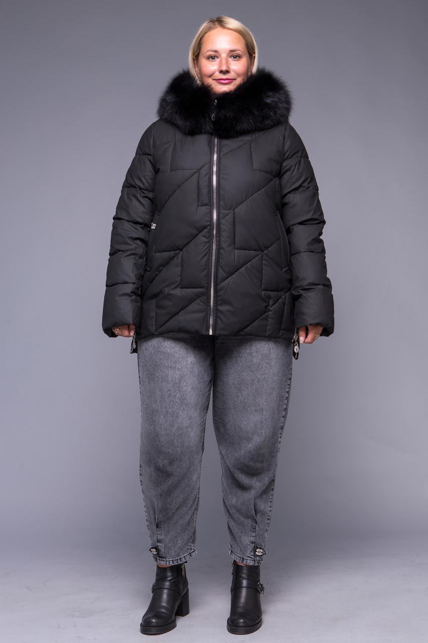 Женский пуховик ZLLY (Zilanliya) Черный Size+
