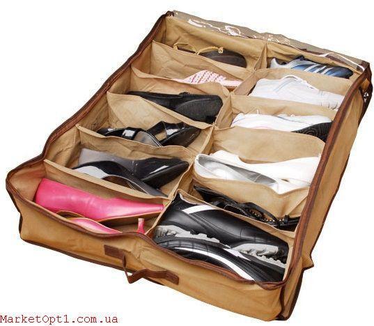 Органайзер для зберігання взуття Shoes-Under (для 12 пар)
