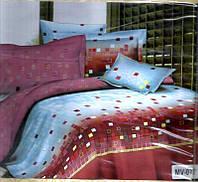 Постельное белье 3D Евро ТМ Bellagio в подарочной упаковке
