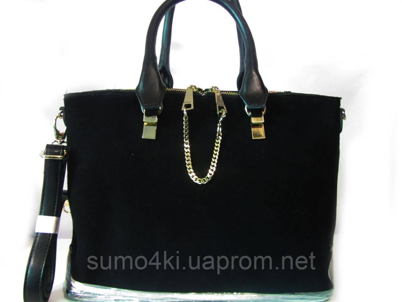 Купить Чёрную замшевую сумку Voee vodd оптом и в розницу в Одессе ... c2d40a23495