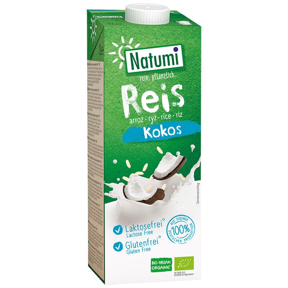 Рисово-кокосовий органічний напій Natumi без цукру 1л Німеччина
