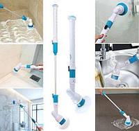 Беспроводная электрическая щетка для уборки Spin Scrubber с насадками для влажной уборки