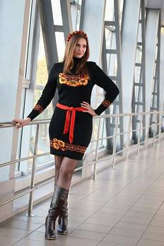 Женское платье с цветами - Веночек