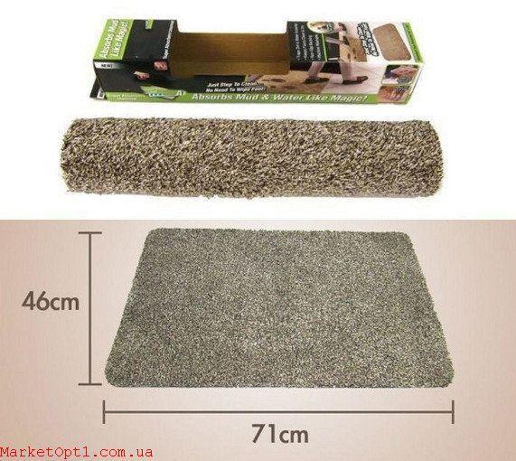 Супервпитывающий придверный  коврик антигрязь для дома и офиса