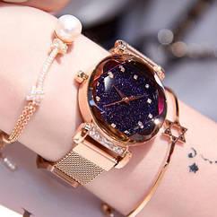 Женские наручные часы Starry Sky watch (золото)