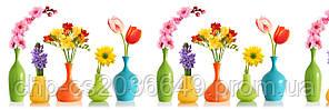 Стеклянный фартук для кухни - скинали Вазы Цветы