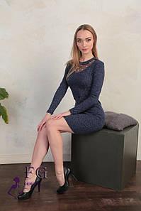 """Костюм женский из ангоры """"Frida""""  Распродажа модели 42-44, темно-синий #A/S"""