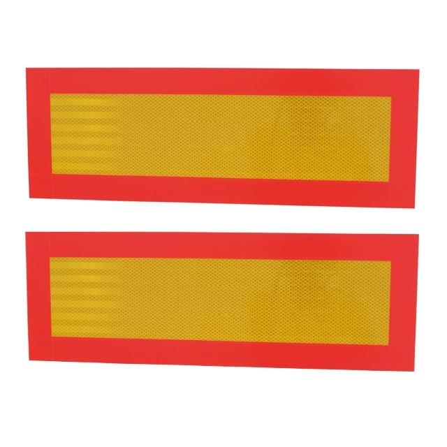Розпізнавальні знаки «Довгомірний транспортний засіб» на металевій основі