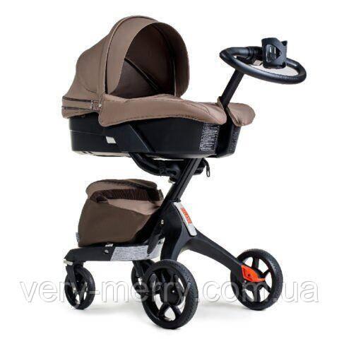 Универсальная коляска 2 в 1 Dsland Xplory V8 (коричневый цвет)