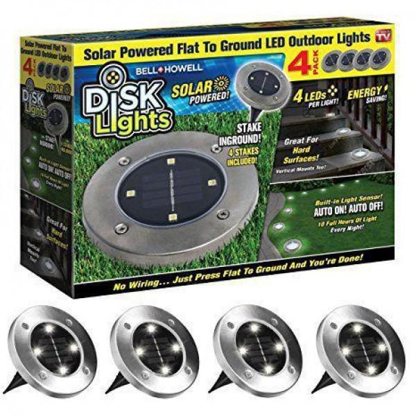 Садовый фонарик Disk Light на Солнечной Батарее