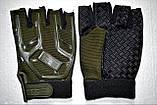 Тактические перчатки 5.11 безпалые олива, фото 3