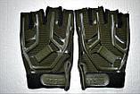 Тактические перчатки 5.11 безпалые олива, фото 2