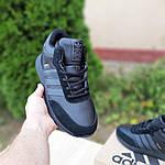 Мужские зимние ботинки Adidas INIKI (черные) 3551, фото 6
