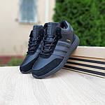 Мужские зимние ботинки Adidas INIKI (черные) 3551, фото 8